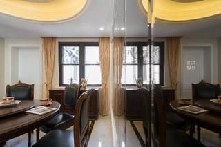 美式风格四房装修餐厅镜面设计