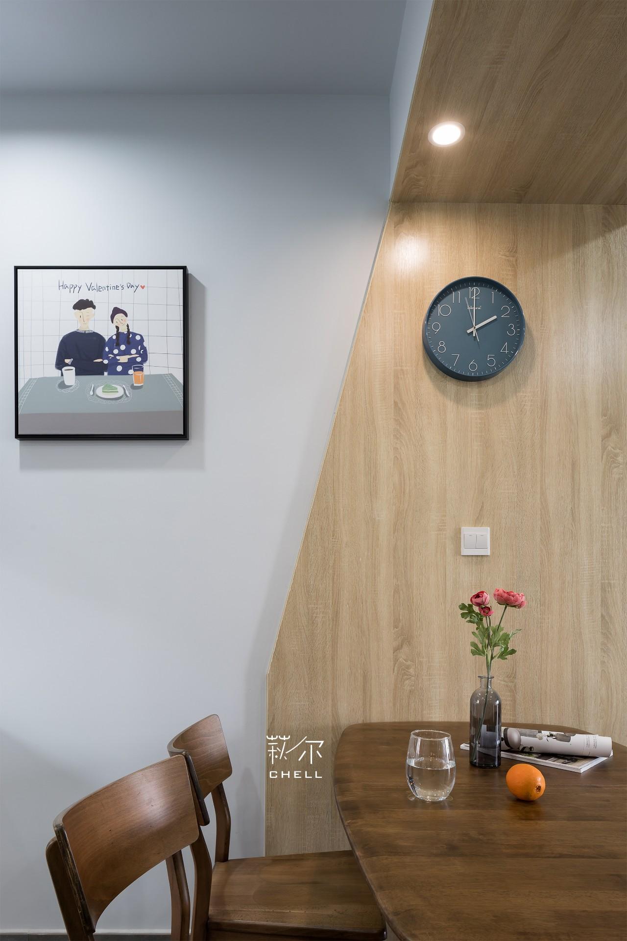 96㎡北欧风格餐厅背景墙装修效果图