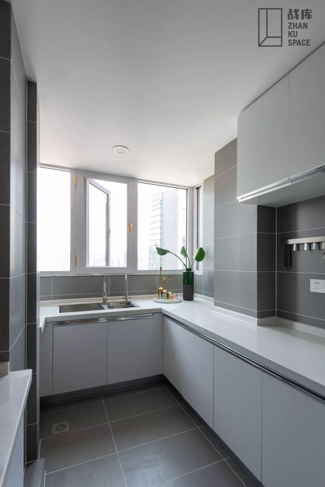 北欧风三居室厨房装修效果图