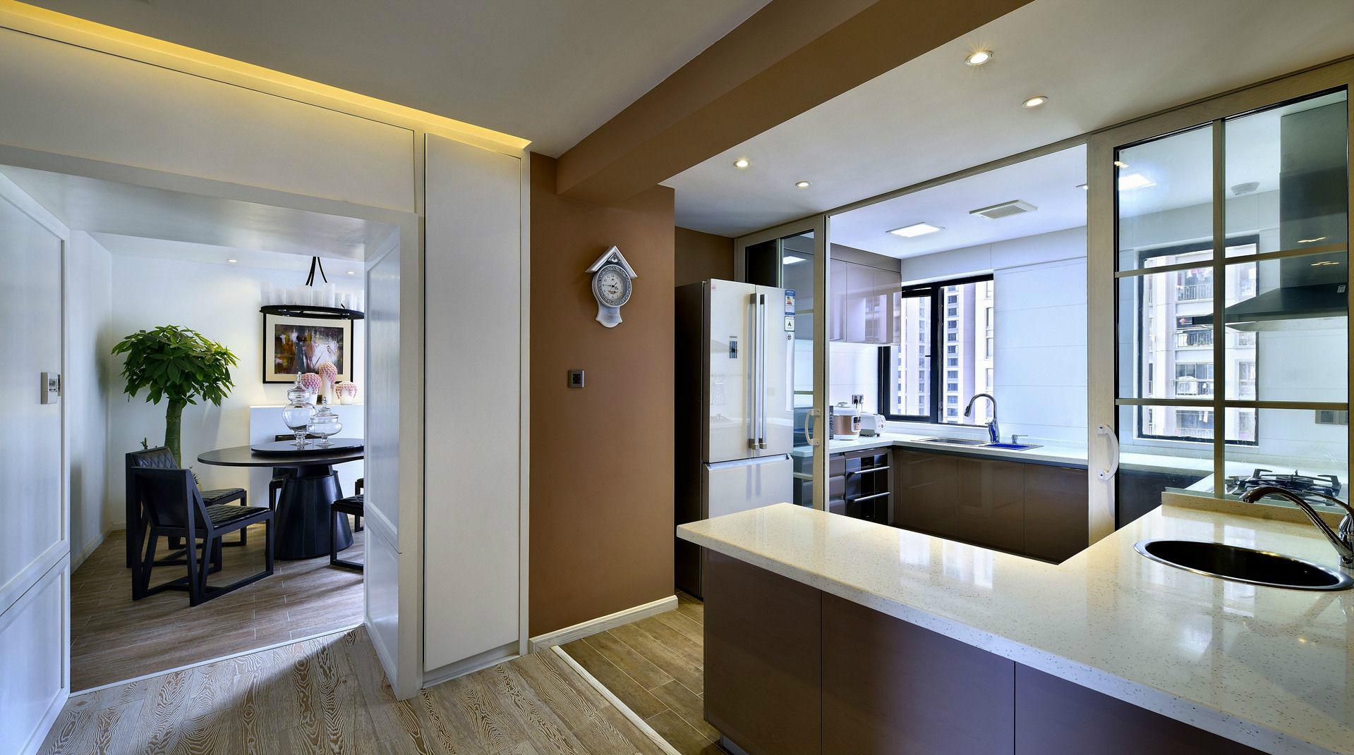 后现代风三居室厨房装修效果图