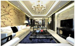 150㎡新中式客厅装修效果图
