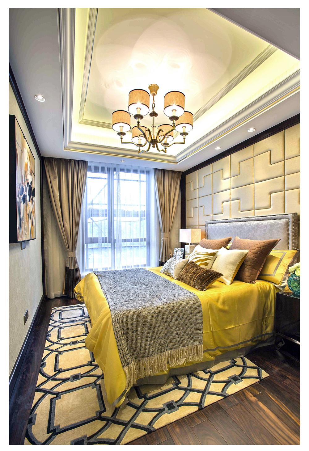 150㎡新中式装修卧室效果图