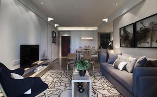 103平米三居室客厅装修效果图