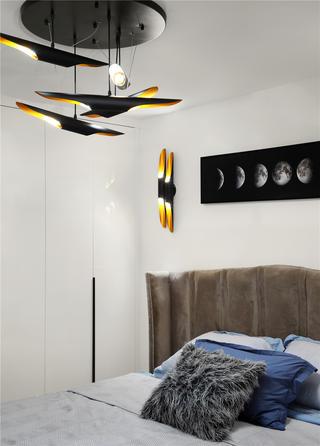 现代风别墅装修卧室吊灯设计