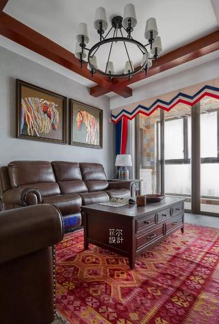 145㎡美式四居客厅装修效果图