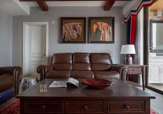 145㎡美式四居沙发背景墙装修效果图
