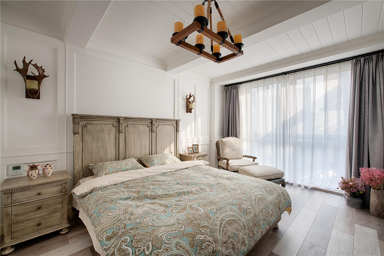 150㎡美式乡村风格卧室装修效果图