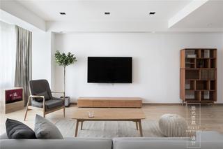 现代简约复式装修电视背景墙效果图