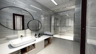 现代中式风格卫生间装修效果图