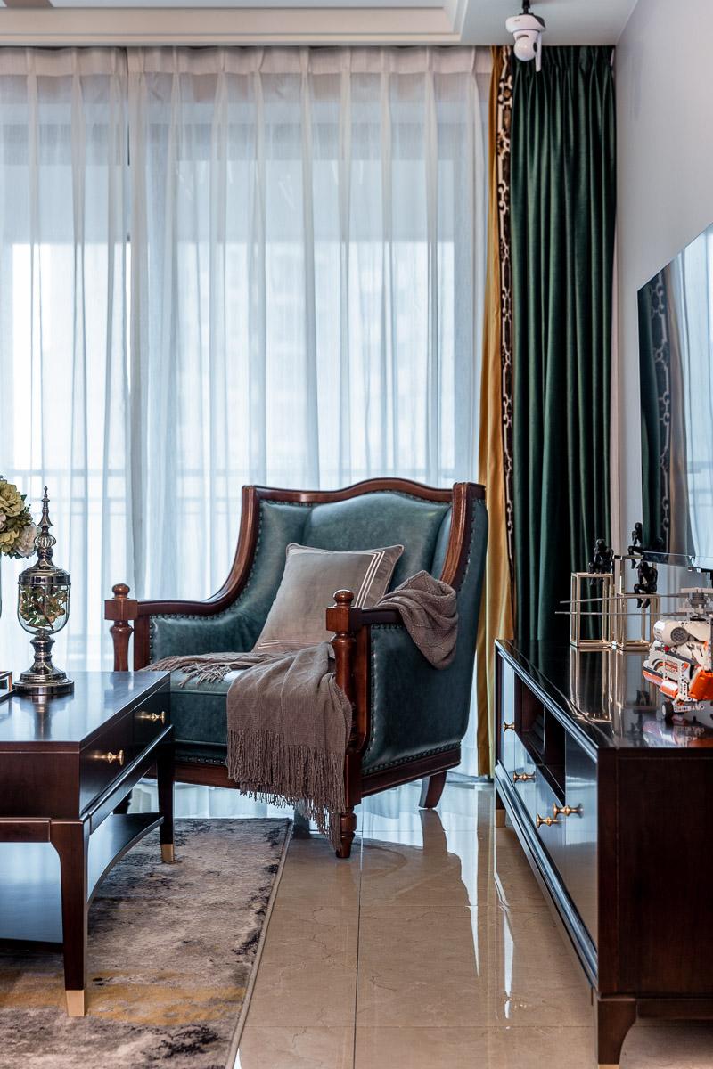 混搭风格三居装修单人沙发设计