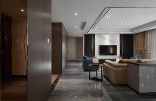 现代简约三居客厅过道装修效果图
