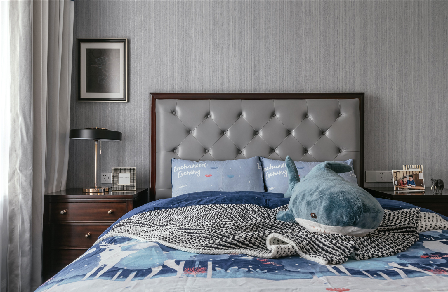 140㎡美式风格卧室装修效果图