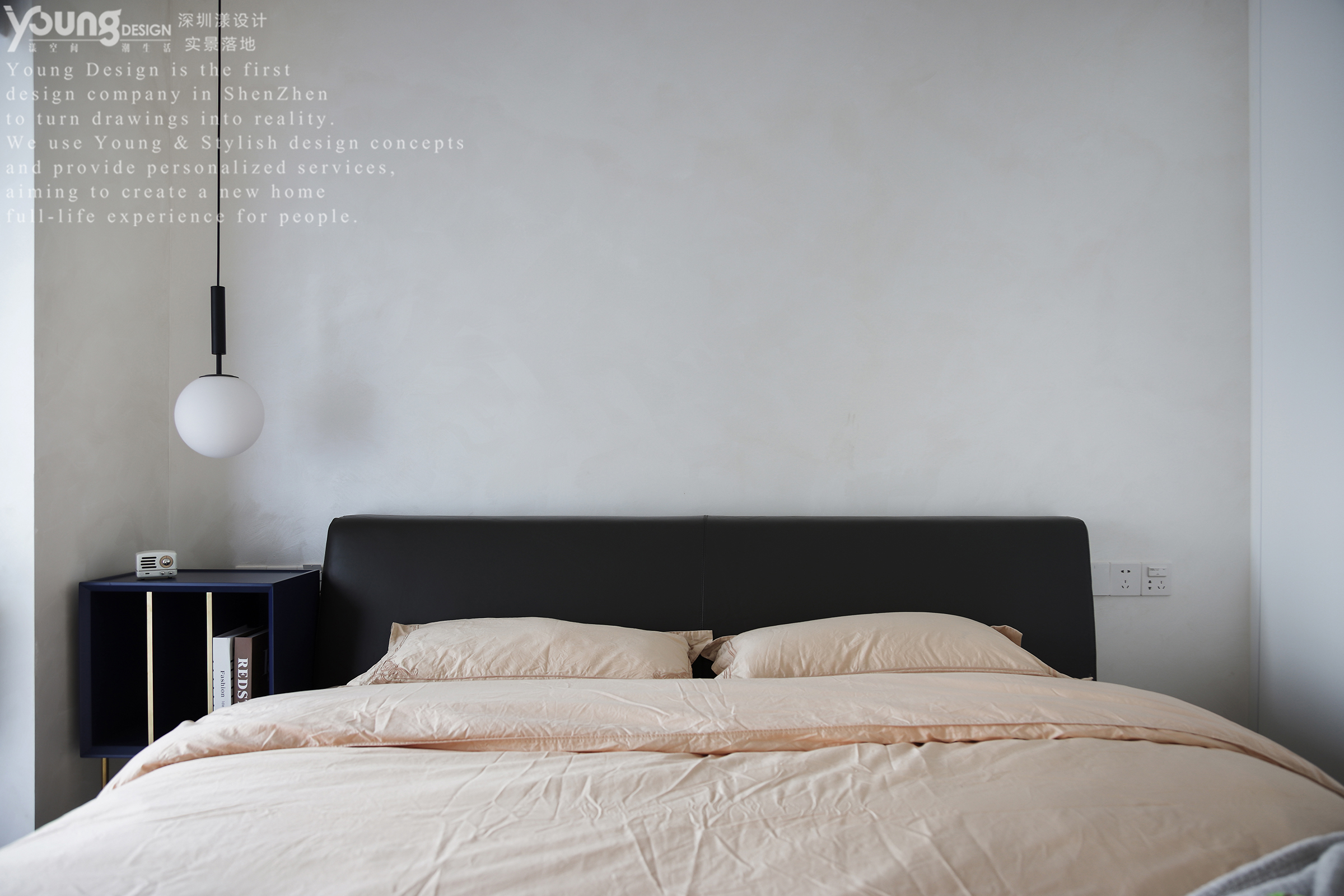 89㎡现代简约卧室装修效果图