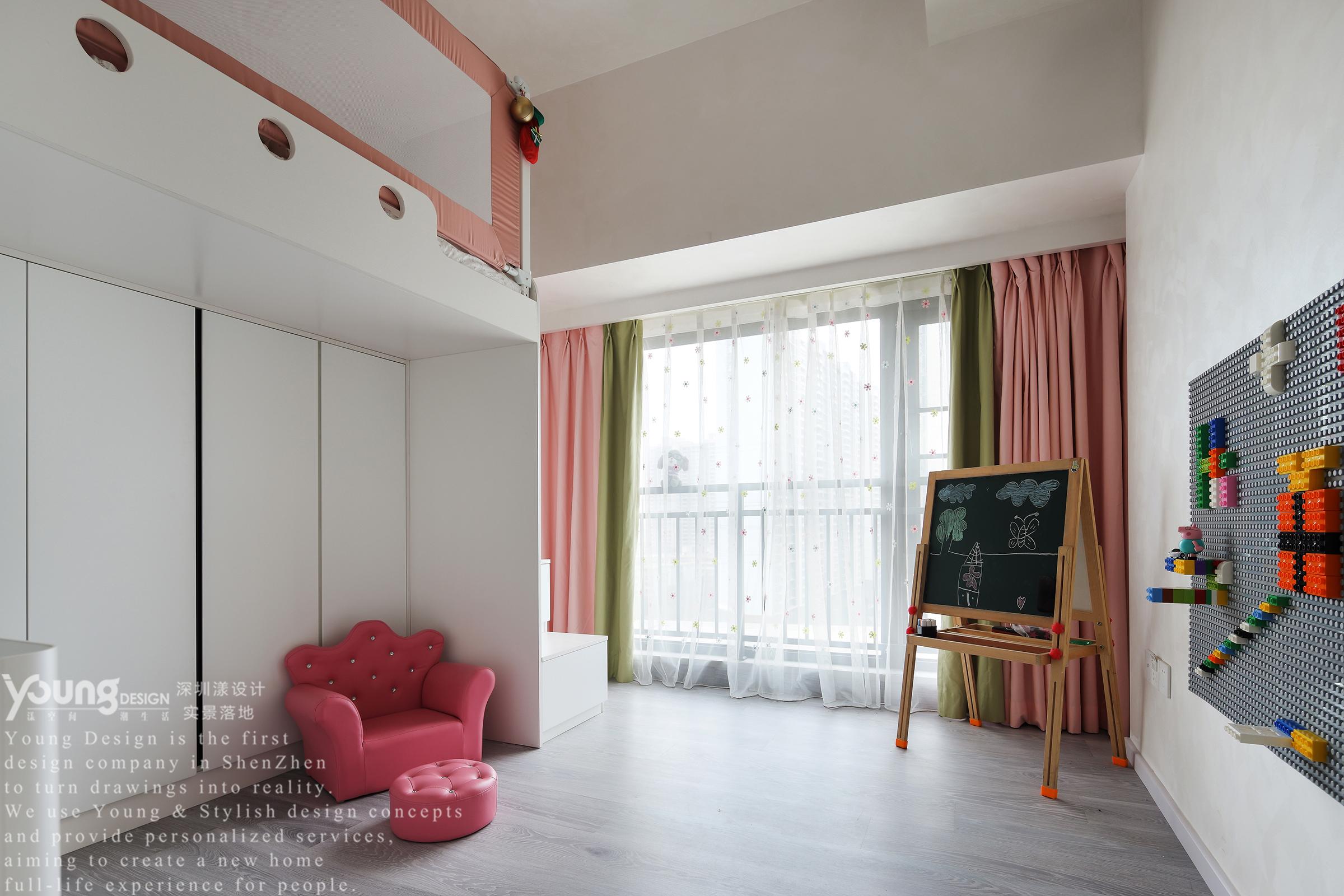 89㎡现代简约儿童房装修效果图