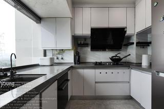 89㎡现代简约厨房装修效果图