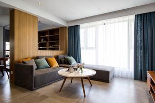 现代北欧风二居客厅装修效果图