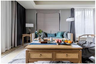 新中式三居装修客厅茶几设计