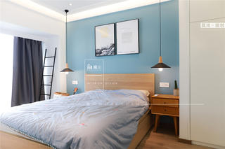 70㎡北欧二居卧室装修效果图