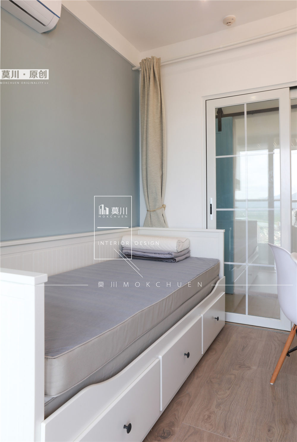70㎡北欧二居装修榻榻米床设计
