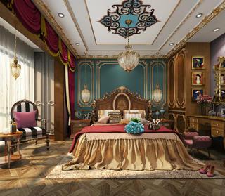 奢华混搭别墅卧室装修效果图