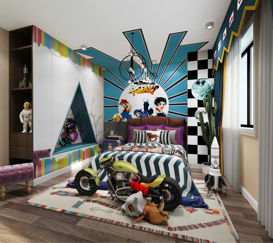 奢华混搭别墅儿童房装修效果图