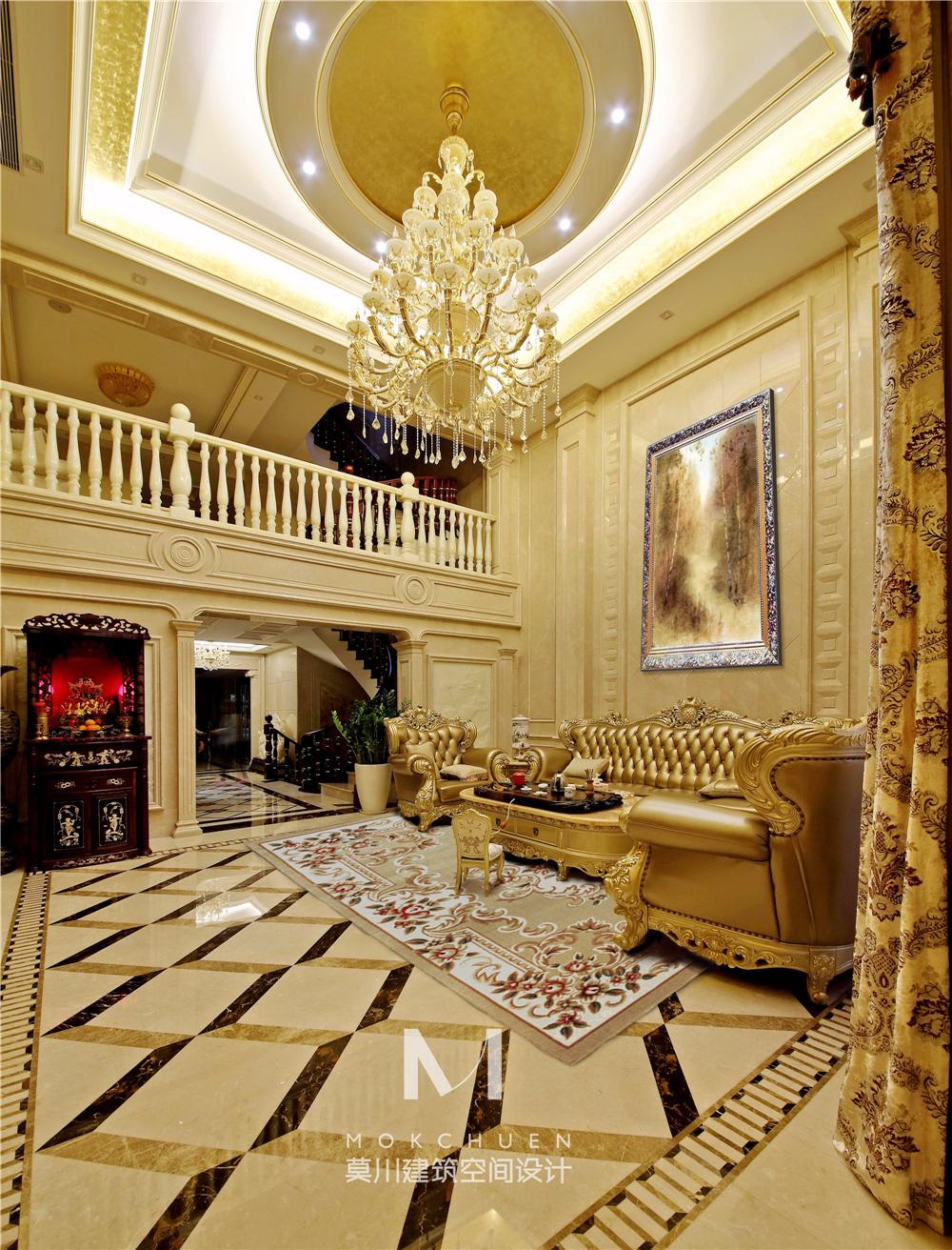 奢华欧式别墅客厅装修效果图