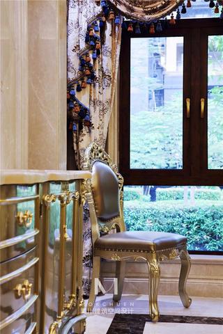 奢华欧式别墅装修单人椅设计