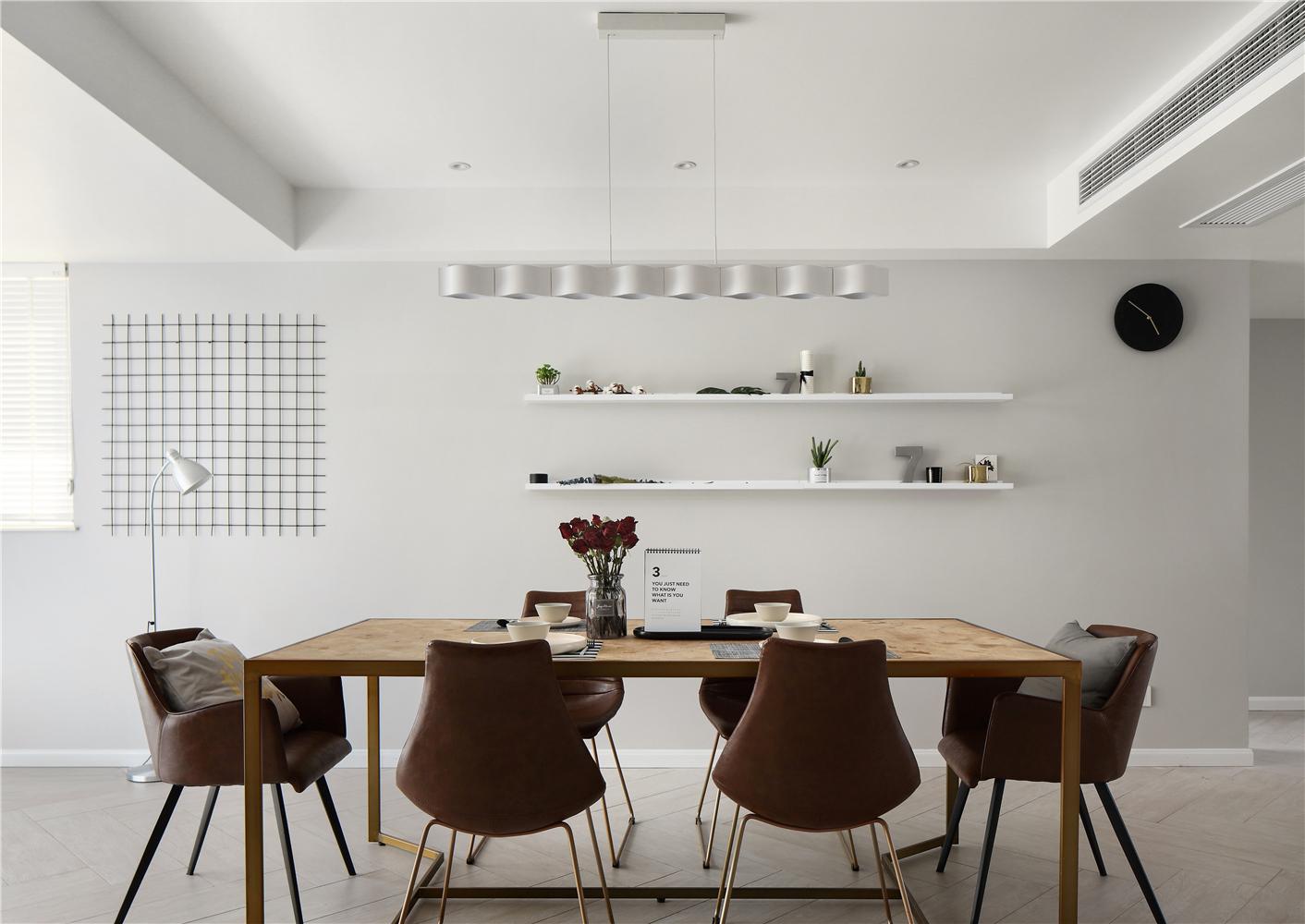 现代简约三居餐厅装修效果图