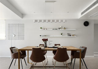 現代簡約三居餐廳裝修效果圖