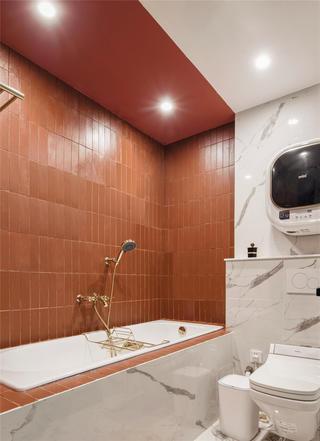 128平米三居室卫生间装修效果图