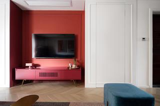 128平米三居室电视背景墙装修效果图