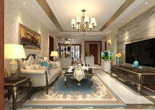 简欧风格两居客厅装修效果图