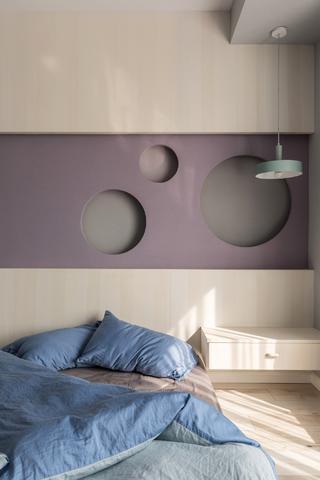 108平米两居室装修床头一角