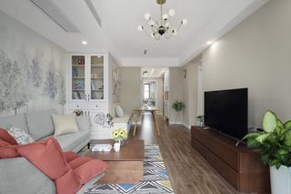 89平米三居室客厅装修效果图
