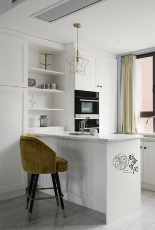 大户型复式混搭风装修西厨吧台设计
