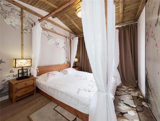 中式风三居卧室装修效果图