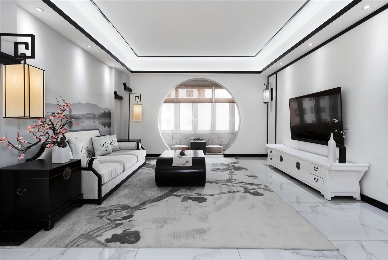 中式风三居客厅装修效果图