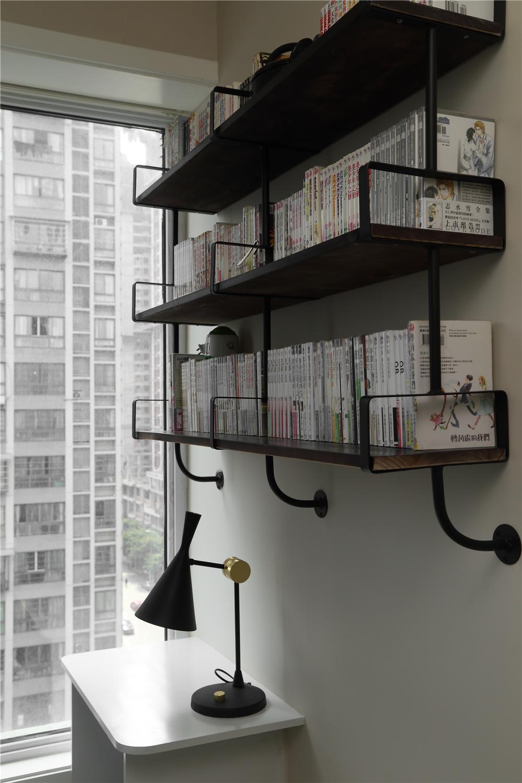 76平米简约一居装修书架设计