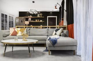80平二居室装修客厅沙发设计