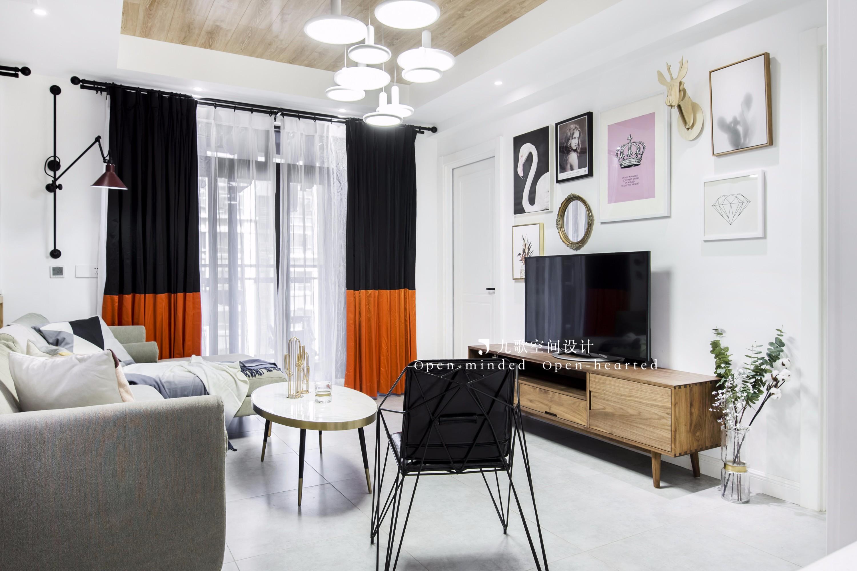 80平二居室客厅装修效果图