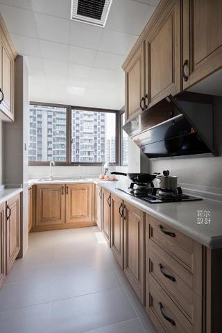 130平三居室厨房装修效果图