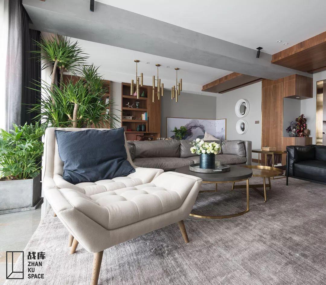 大户型现代混搭装修沙发躺椅设计