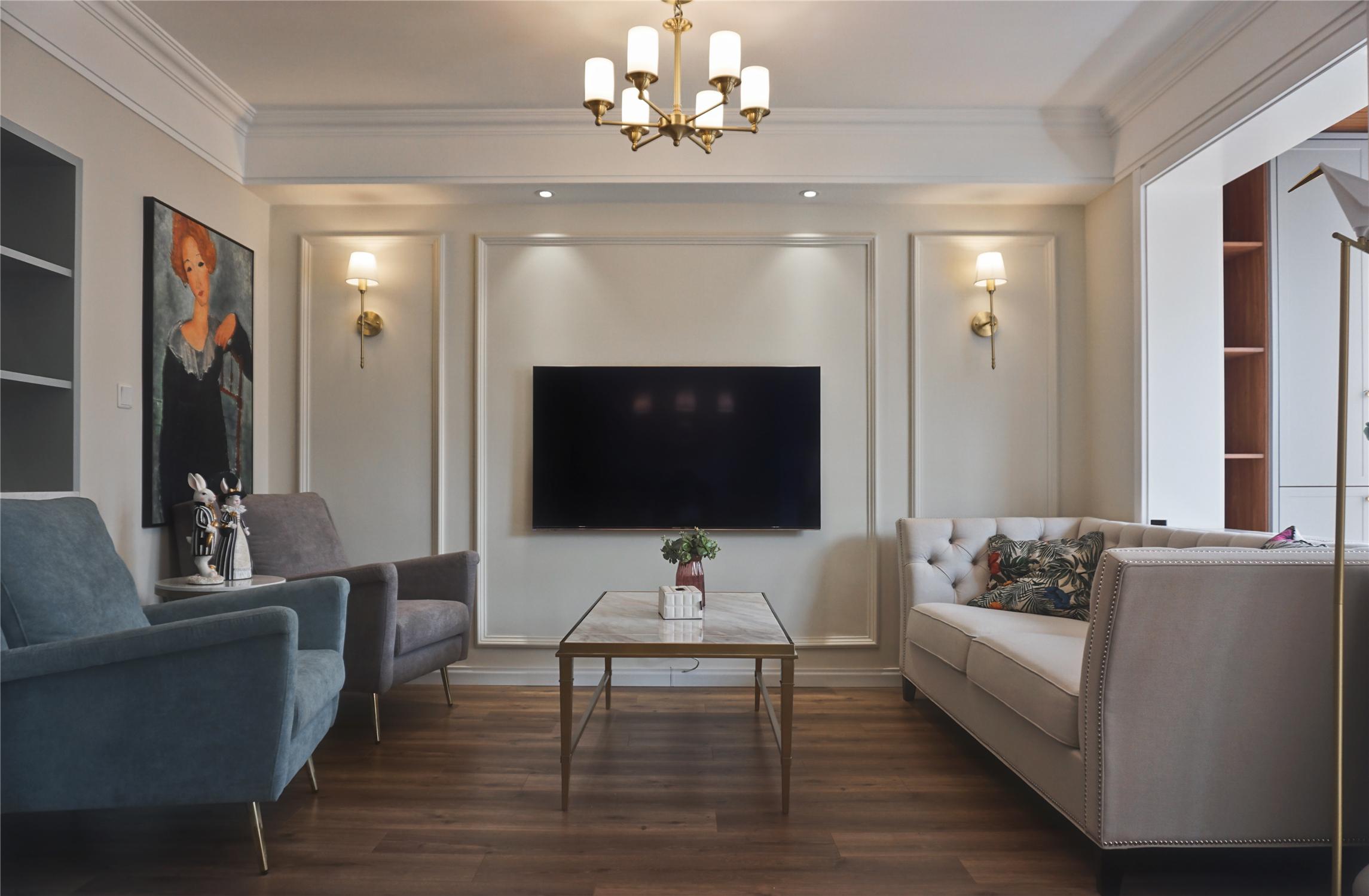 简美风格客厅装修设计效果图