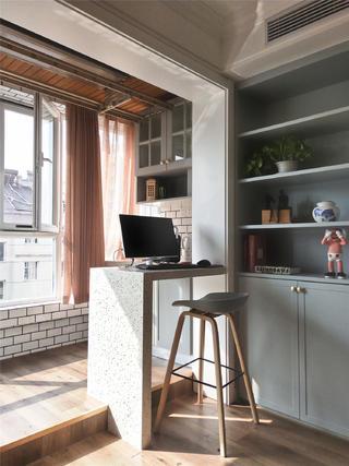 简美风格装修阳台吧台设计
