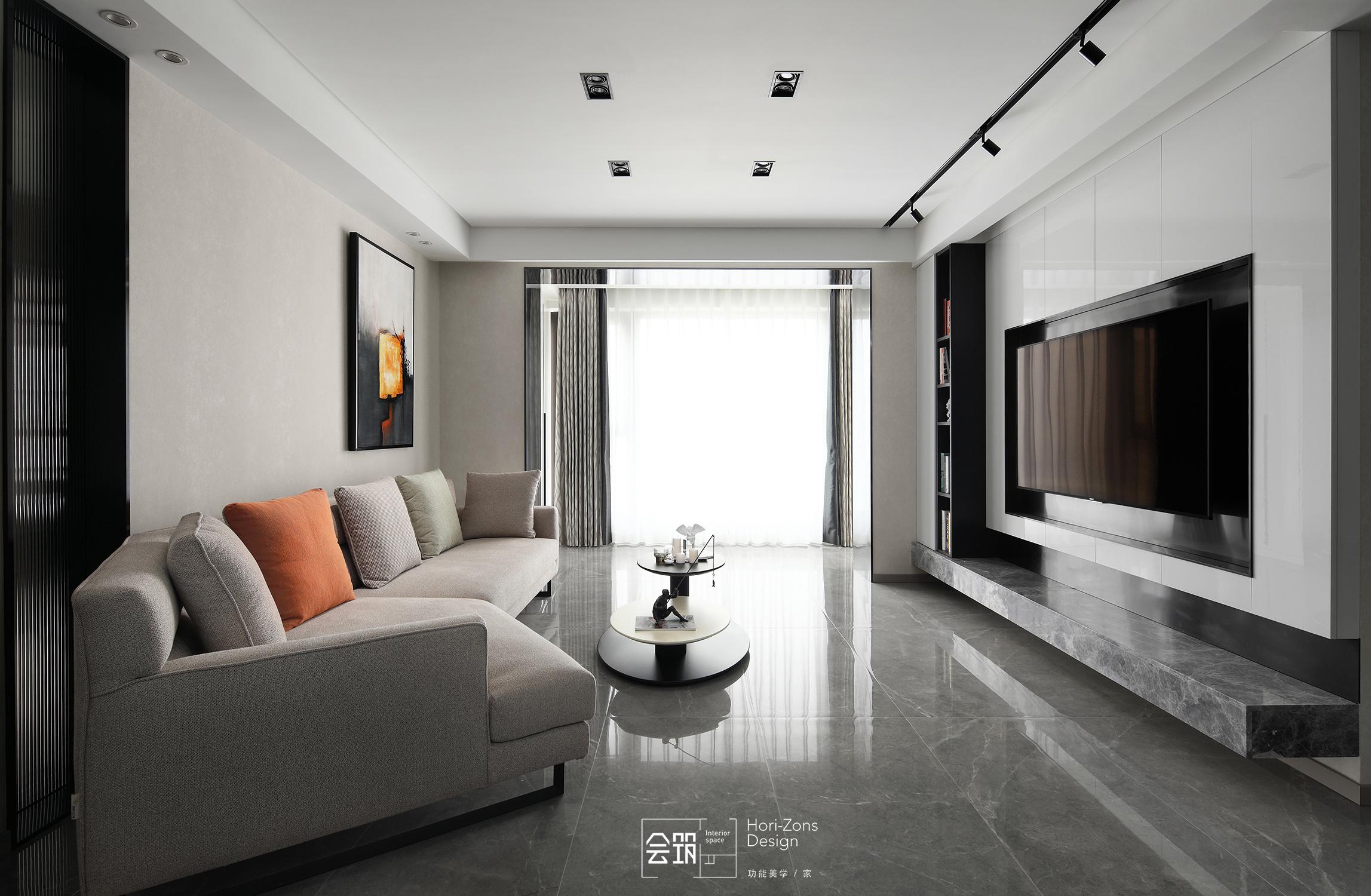 现代简约风四房客厅装修效果图