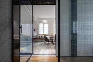 现代简约风两居装修玻璃门设计