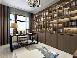 新中式风别墅书房装修效果图