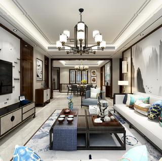 新中式风别墅装修效果图