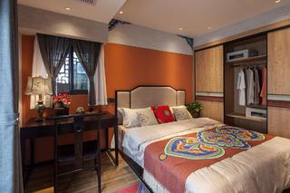 47㎡中式两居卧室装修效果图