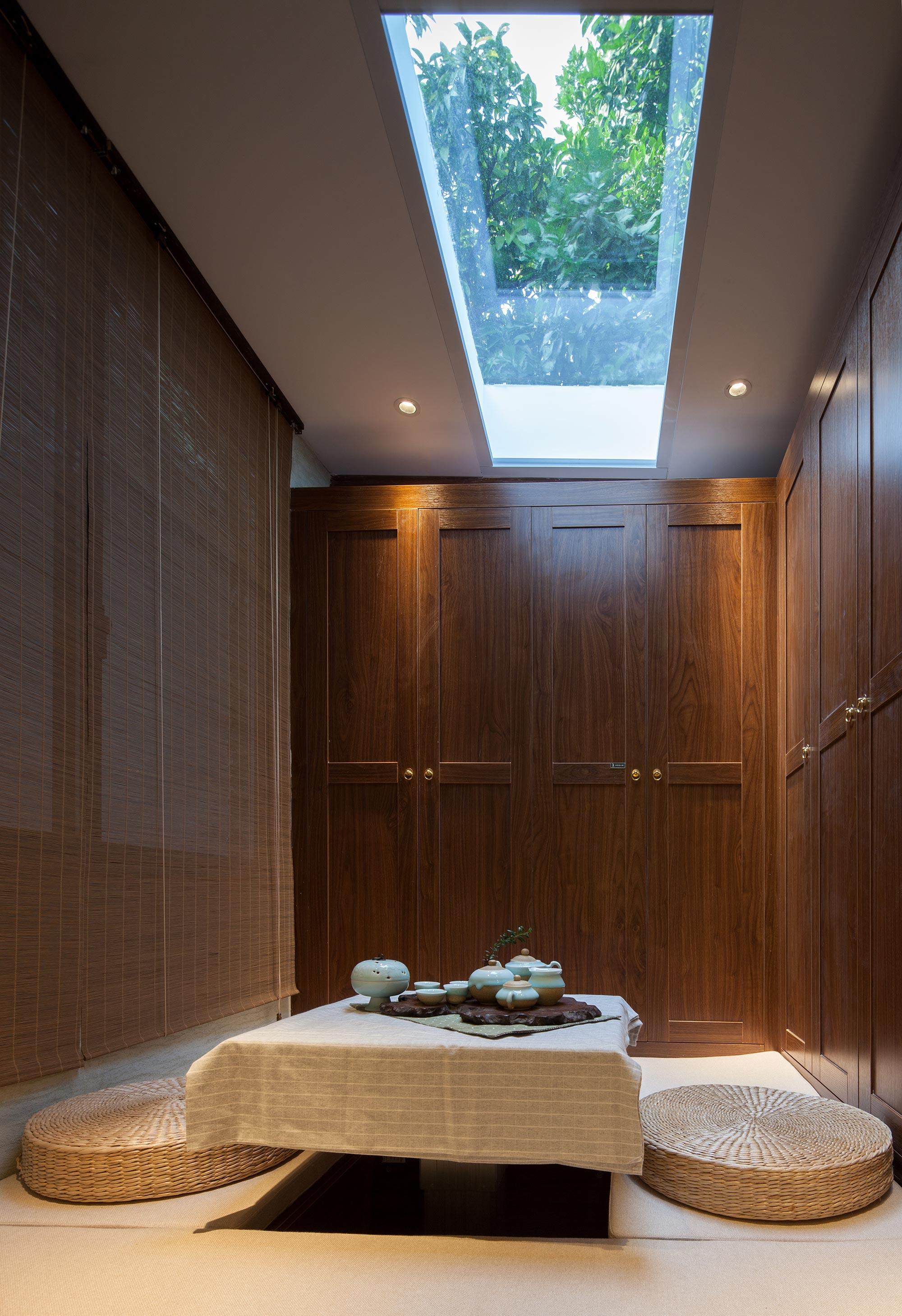 57㎡新中式老宅茶室装修效果图